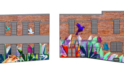 Mural project begins at the Box Factory for the Arts