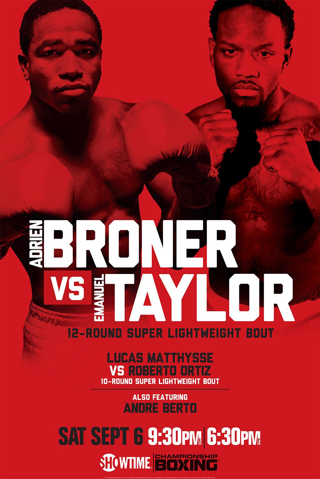 Adrien Broner vs. Emanuel Taylor