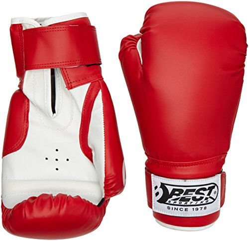 Best Sport Competition Boxing Gloves - Red, 12 oz