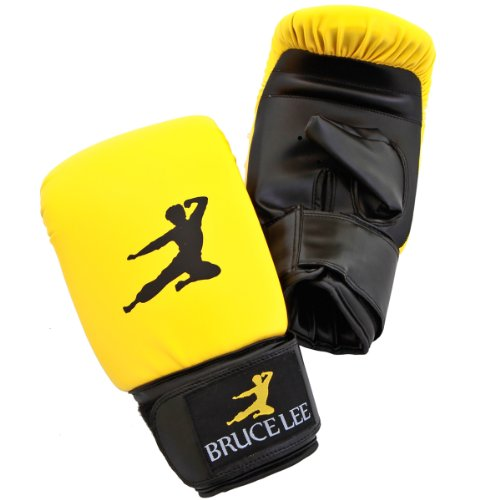 Bruce Lee Signature Synthetic Leather Boxing Bag Gloves