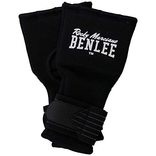 BENLEE Rocky Marciano Foreman Woven Glove Wraps-Black, X-Large