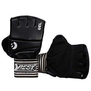 Best Sport Ball Gel Competition Gloves - Black, Large
