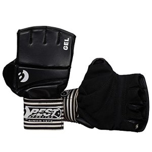 Best Sport Ball Gel Competition Gloves - Black, Large