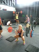 Thrusters at Cameron CrossFit