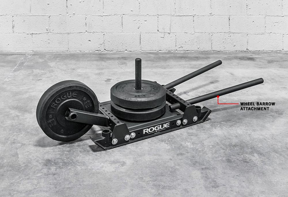 Crossfit wheel barrow attachment