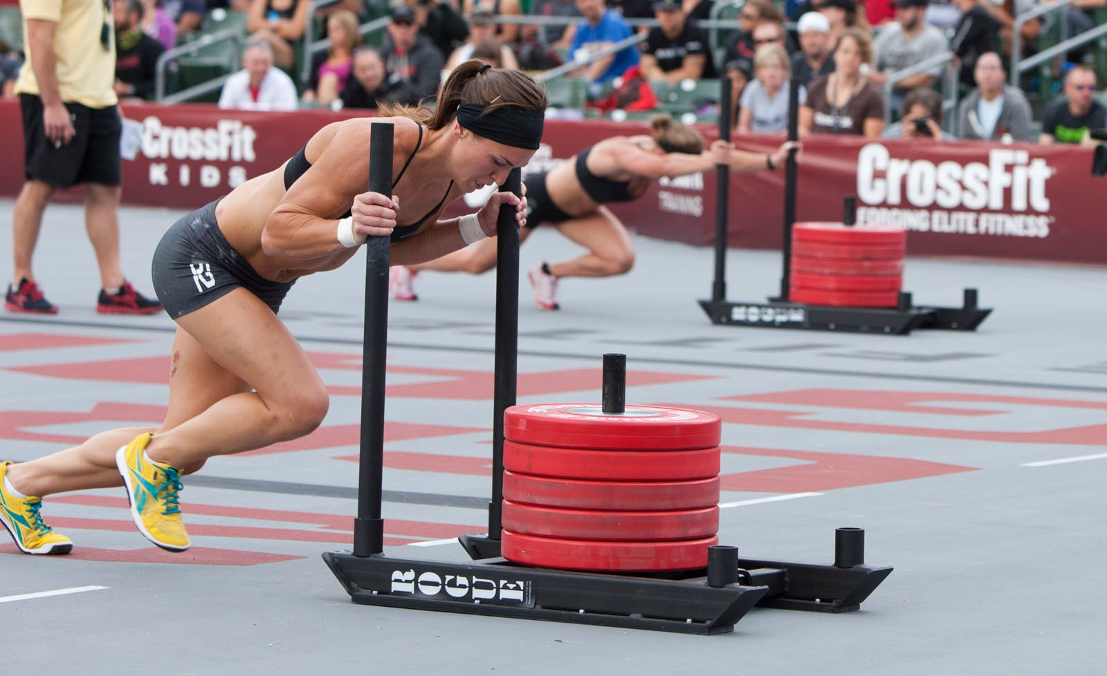 Crossfit sled push