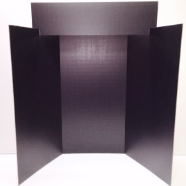 Black Exhibit Board with Title Panel