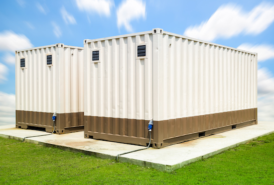 container with wall vents