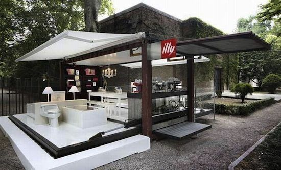 expandable shipping container cafe