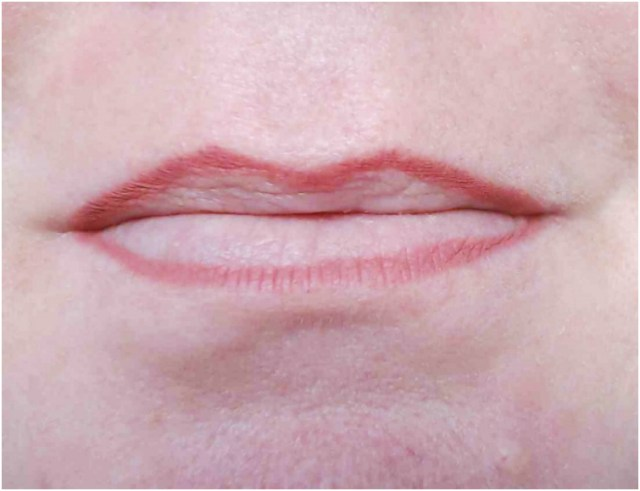 My Lips with the Soft Smooth Lip Liner applied.