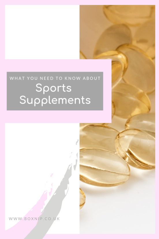What you need to know about Sports Supplements - Pinterest Image