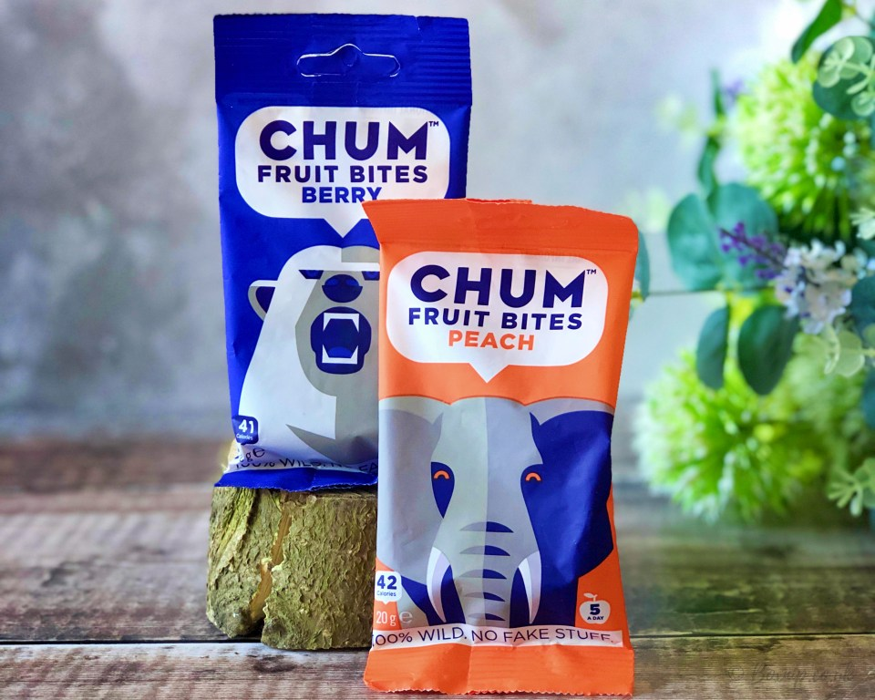 CHUM Fruit Bites in Berry and Peach - September 2019 Degustabox UK