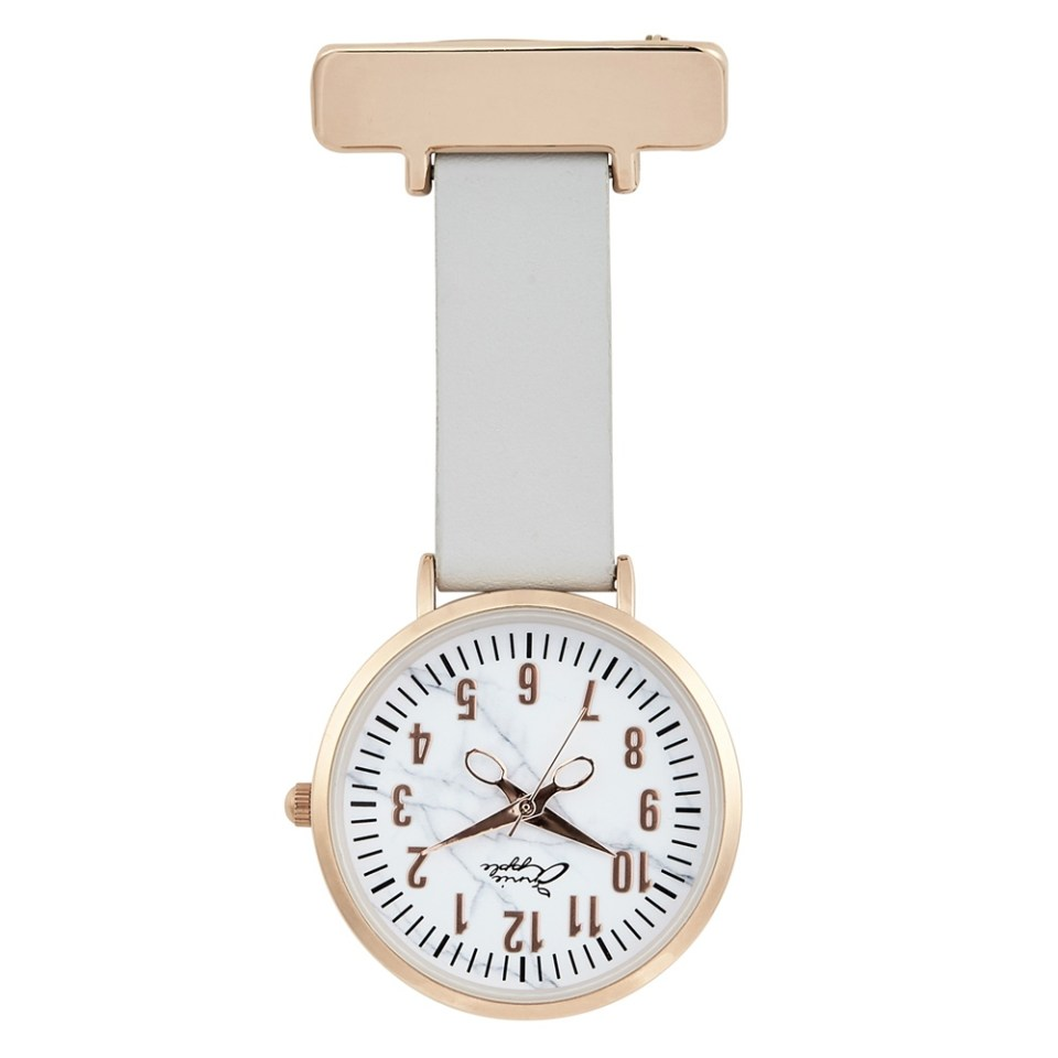 Nurses Rose Marble Engraved Leather Fob Watch From Engravers Guild