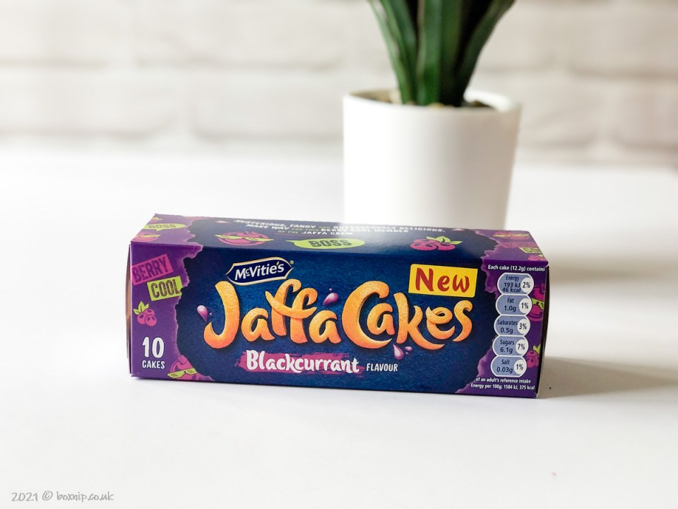 McVities's Jaffa Cakes - Blackcurrant Flavour - Degusta Box for July 2021