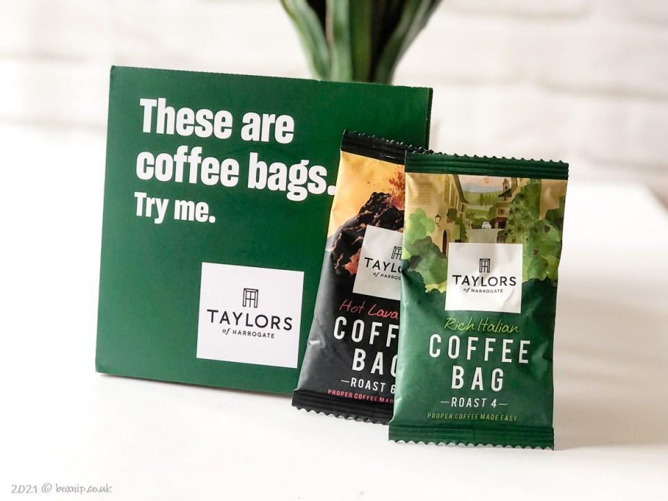 Taylors of Harrogate Coffee Bags - Degusta Box for July 2021