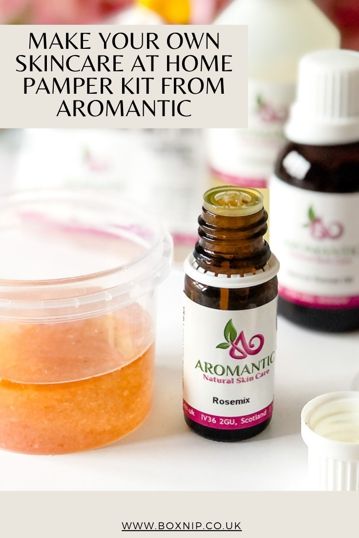 MAKE YOUR OWN SKINCARE AT HOME PAMPER KIT FROM AROMANTIC