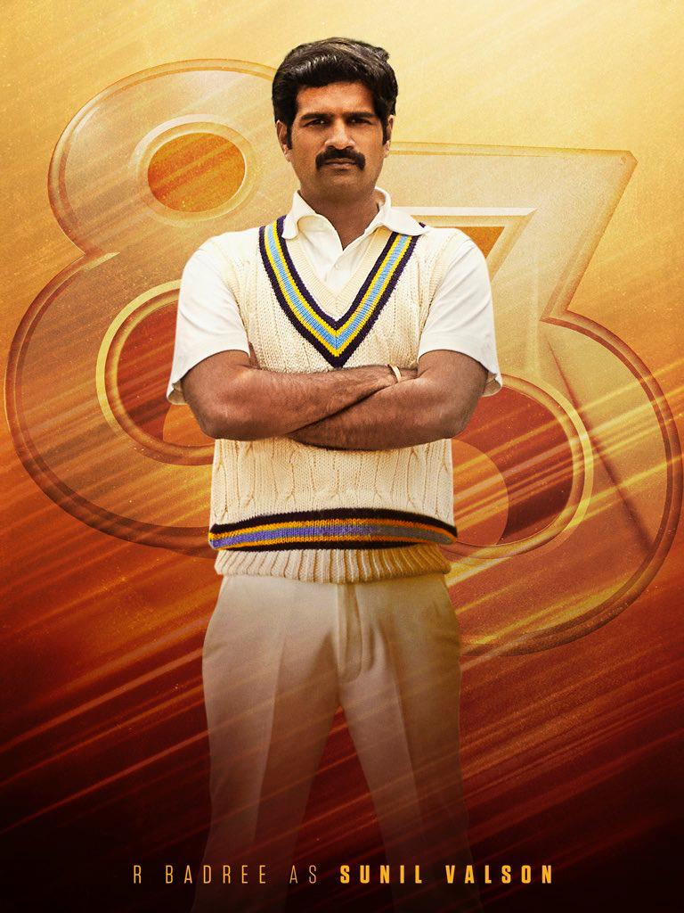 The Latest Poster Of 83 Features R Badree as Sunil Valson