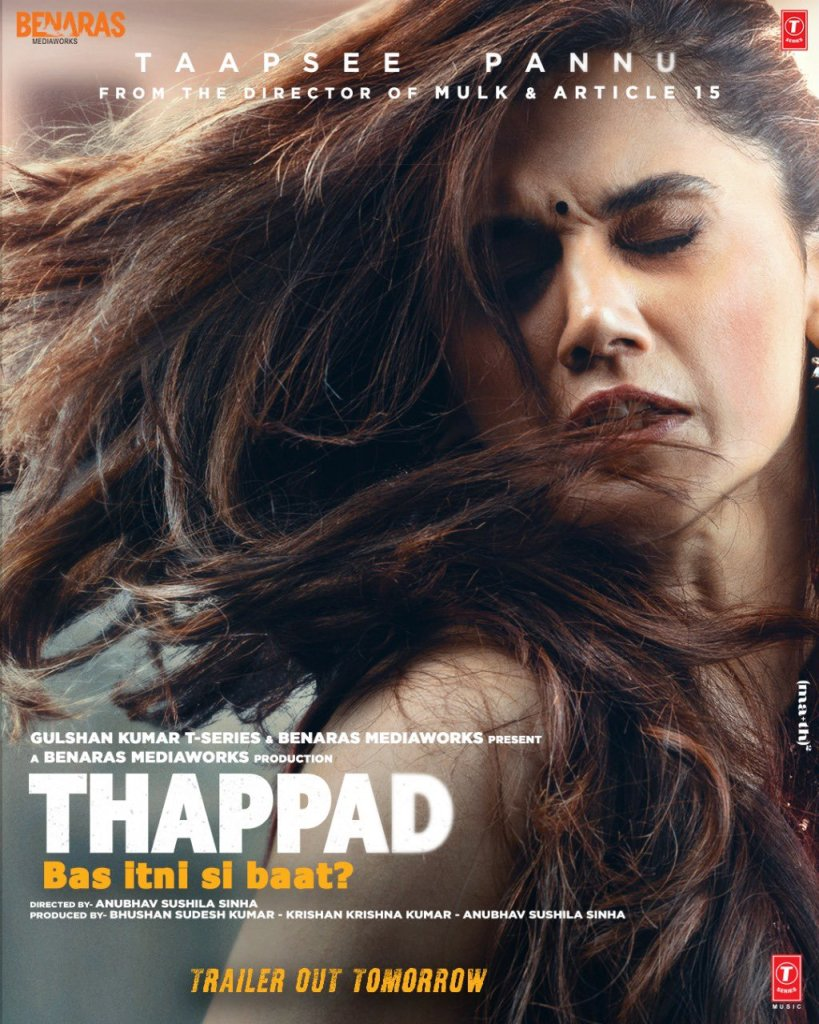 THAPPAD Bas itni si baat?: Makers Reveal The first Look Poster Ft. Taapsee Pannu & It's Giving Us Goosebumps!
