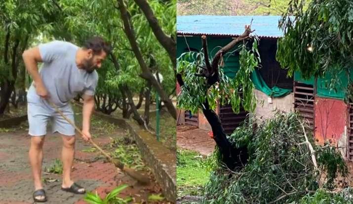 Nisarga Cyclone Affects Salman Khan's Farmhouse, Actor Cleans Afterwards