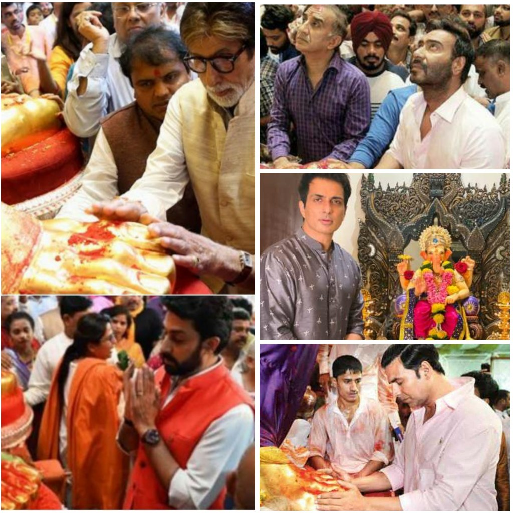 Ganesh Chaturthi 2020: Celebrities Including Amitabh Bachchan, Akshay Kumar, Sanjay Dutt, Kajol Shares Pictures As They Welcome Lord Ganesha Today!