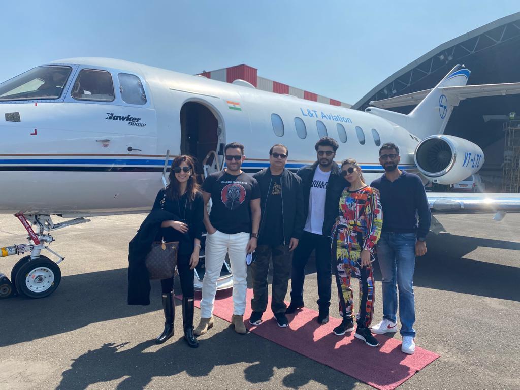 'Bhoot Police': Saif Ali Khan, Arjun Kapoor, Jacqueline Fernandez & Yami Gautam Geared Up For The Shoot, Leave For Dalhousie