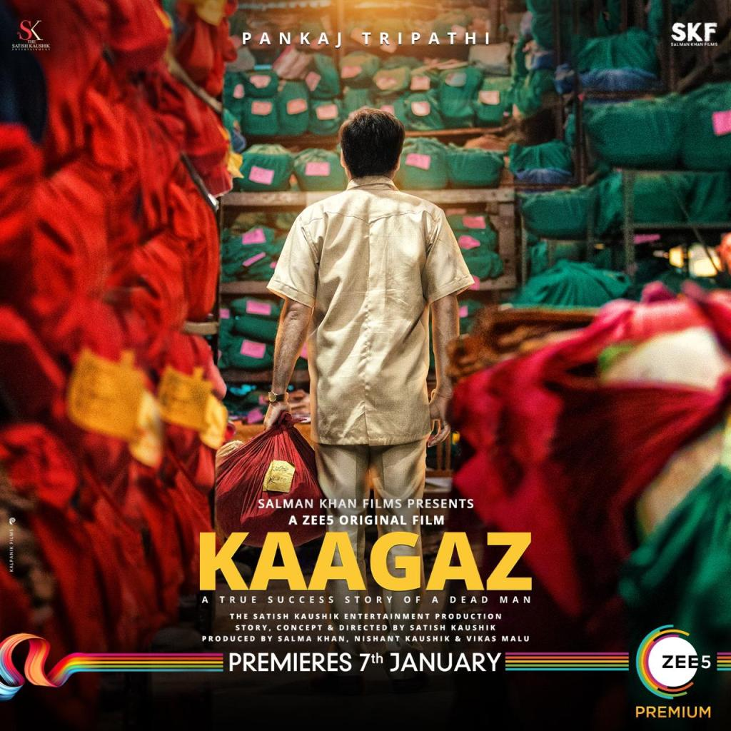 Satish Kaushik Directorial & Pankaj Tripathi Starrer 'Kaagaz' To Release On ZEE5 In January