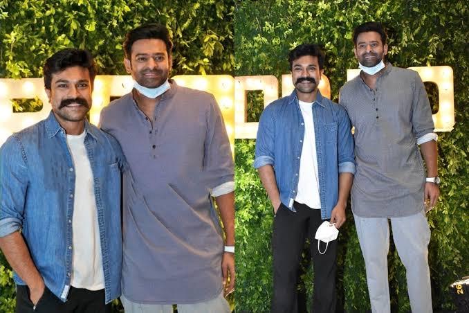 VIRAL! South Superstars Prabhas And Ram Charan Poses At Dil Raju's 50th Birthday Bash