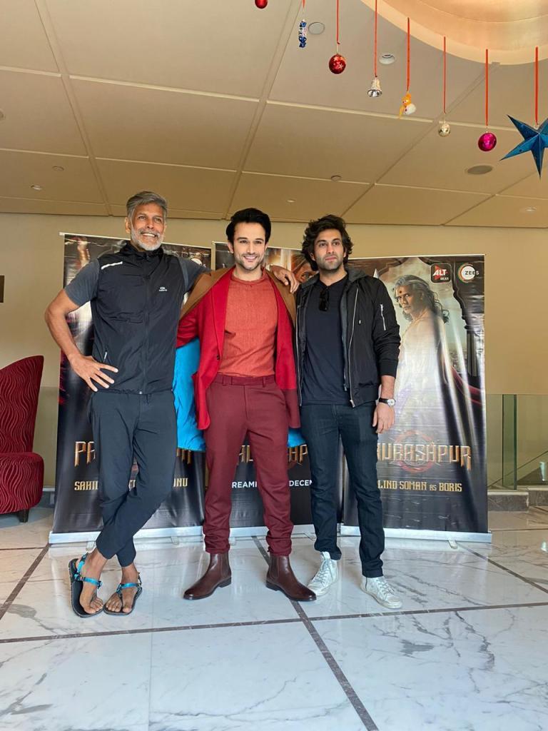 Paurashpur Cast – Milind Soman, Sahil Salathia & Aditya Lal Promote The Magnum Opus In Delhi!