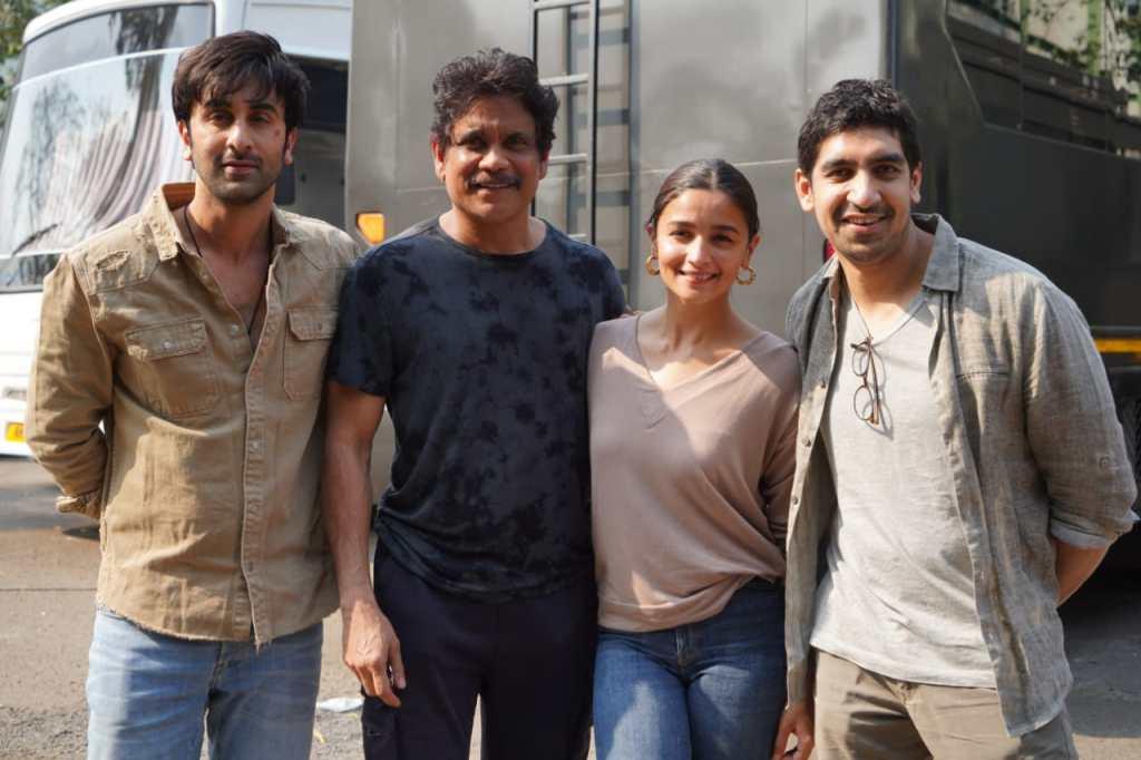 Cast Of Brahmāstra, Superstar Nagarjuna Akkineni, Ranbir Kapoor, Alia Bhatt & Director Ayan Mukerji Snapped During Candid Moments
