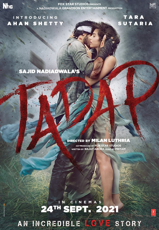 Ahan Shetty And Tara Sutaria's First Look From Tadap Is Breathtaking