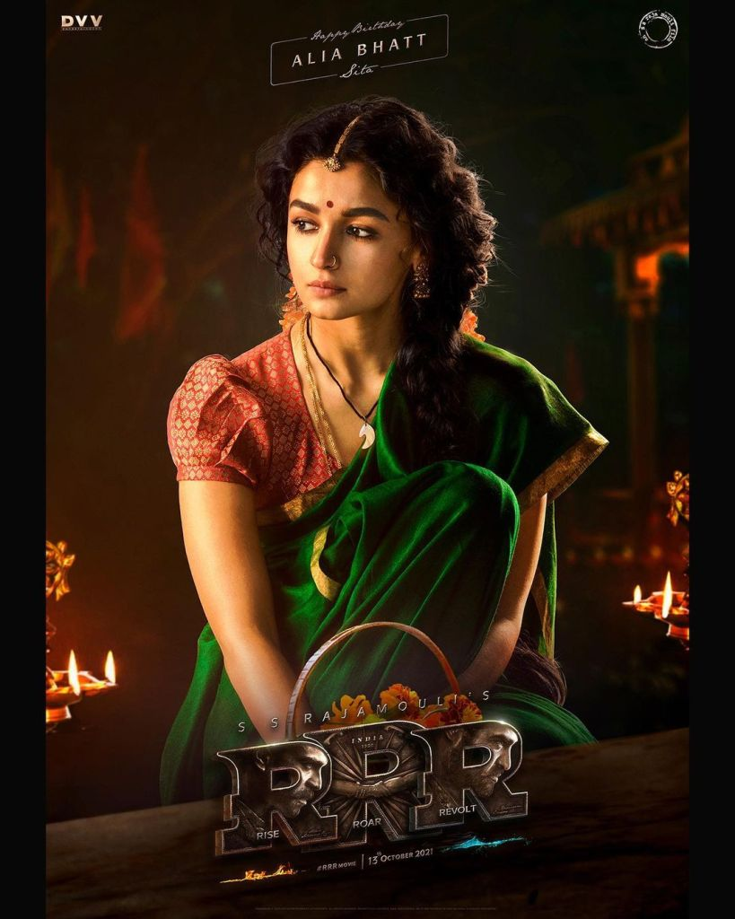 First look OUT! SS Rajamouli's RRR Brings Alia Bhatt's First Look As 'Sita' To The Audience On Her Birthday