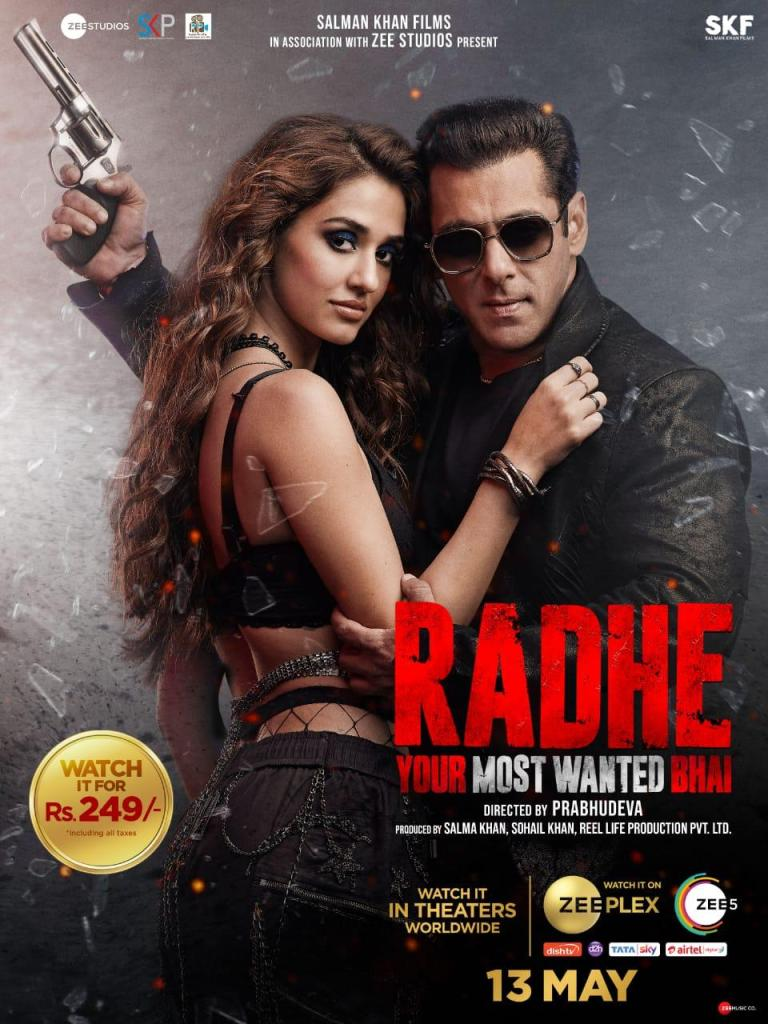 Salman Khan's Radhe: Your Most Wanted Bhai Will Be Premiering At A Price Of Rs. 249/- Pay-per-view On ZEEPlex By ZEE Studios