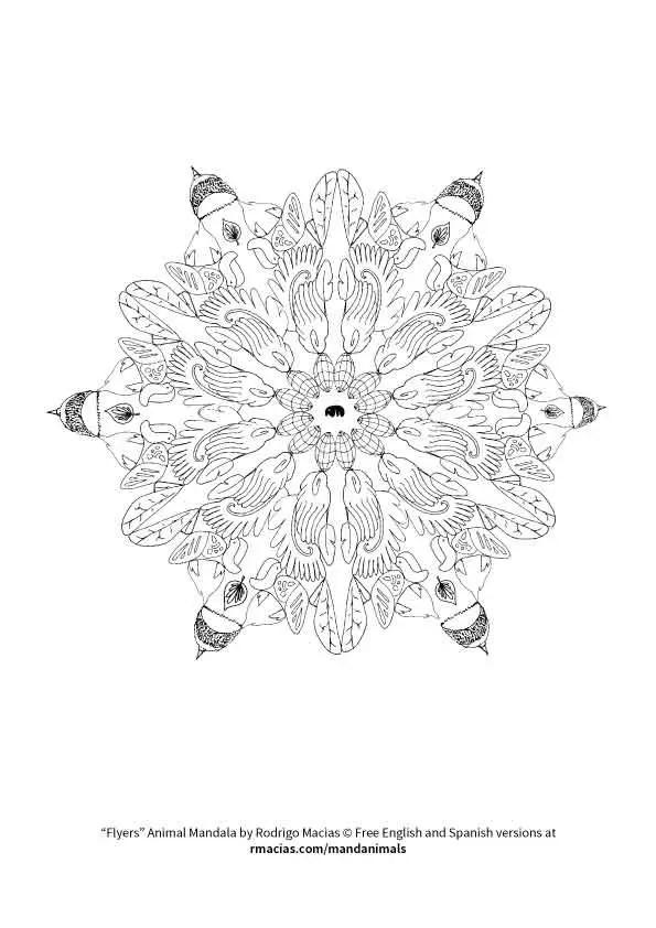 Free coloring activity: Animal Mandalas (EN/ES/FR