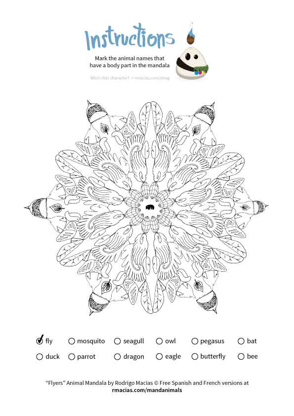 Free coloring activity: Animal Mandalas (EN/ES/FR
