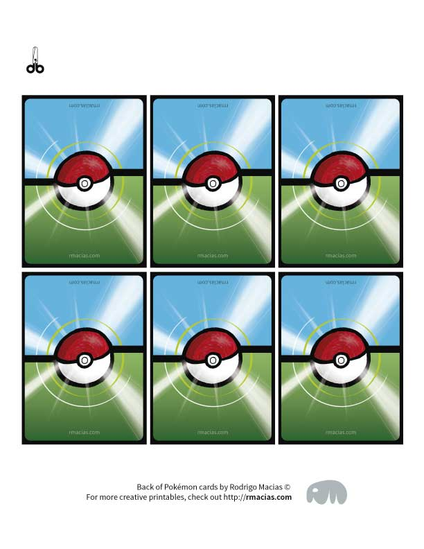 picture about Pokemon Printable Cards known as Pokemon Shift Playing cards Style and design - Free of charge Printable Box of Guidelines