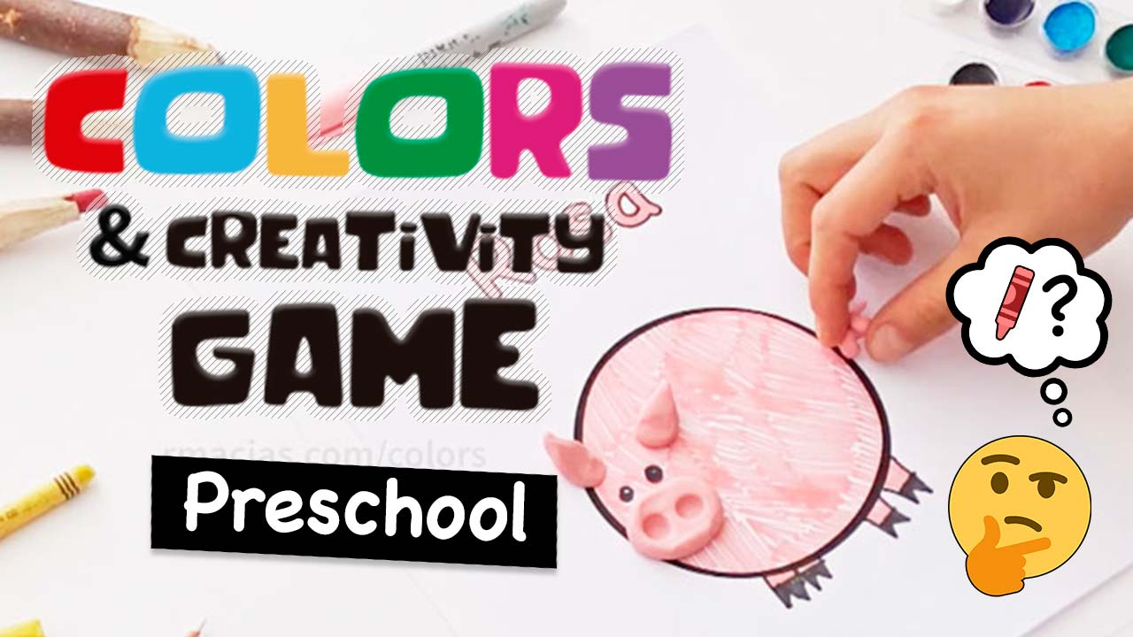 Colors and Creativity: A Preschool Game Idea to Practice Color Names in Any Language - Free printables of colour names in English, Spanish, French, German, Italian, Portuguese and a BLANK version to add more languages.