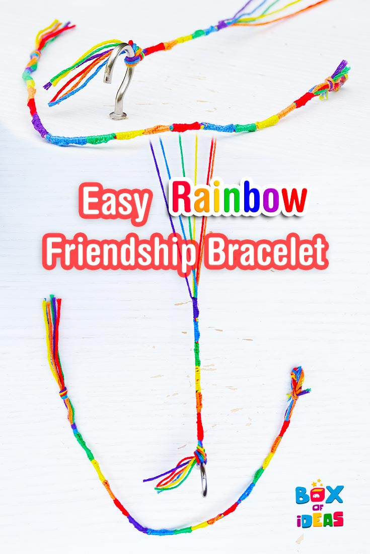 Friendship Craft Ideas Kids Part - 48: Colorful And Easy Rainbow Friendship Bracelet Craft For Kids! By Box Of  Ideas