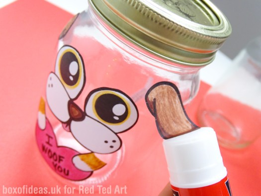 Making Dog and Cat Valentine's Treat Jar #valentines #dog #cat