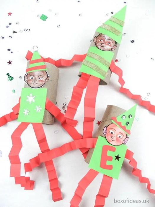 #Christmas DIY Elf on the Shelf toilet tube #craft for teachers of #preschool kids