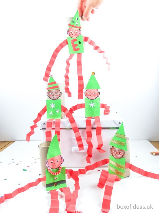 DIY #Christmas #Elfs on the Shelf toilet tube craft for teachers of preschool kids