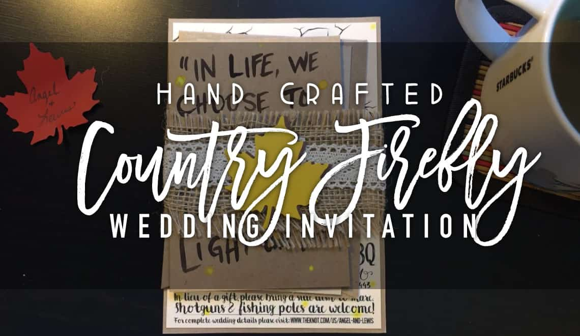 Country Firefly Wedding Invitations