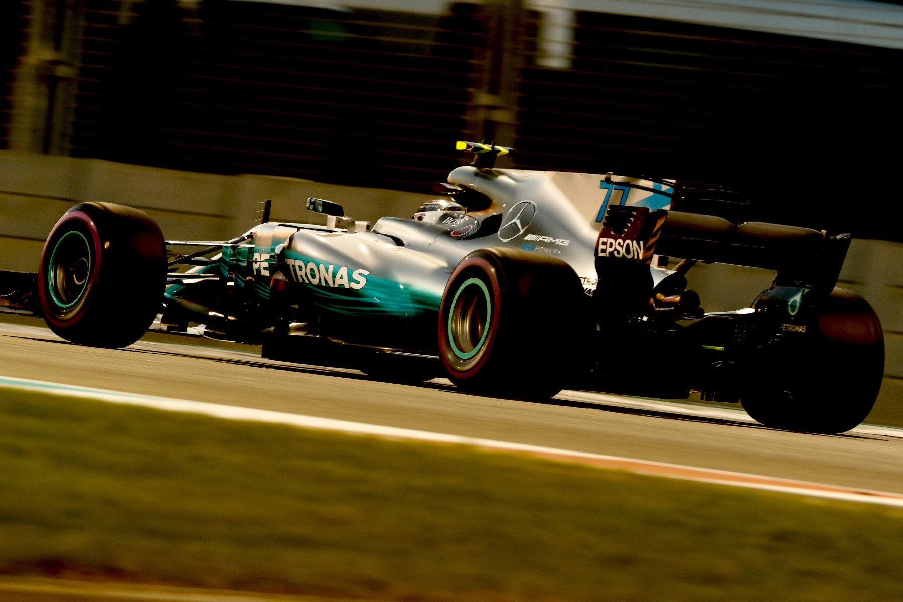 Valtteri Bottas on track at the 2017 Abu Dhabi Grand Prix.