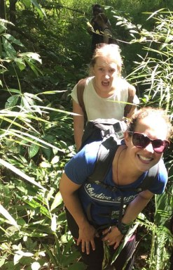 jungle trek selfie