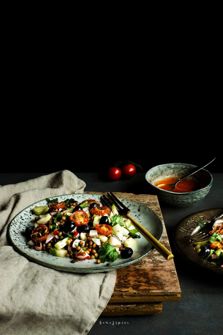 Blueberry Lentil Salad with Chili Lime Dressing I Boxofspice