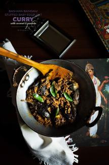 Baghara Baigan/Stuffed Baby Eggplant Curry