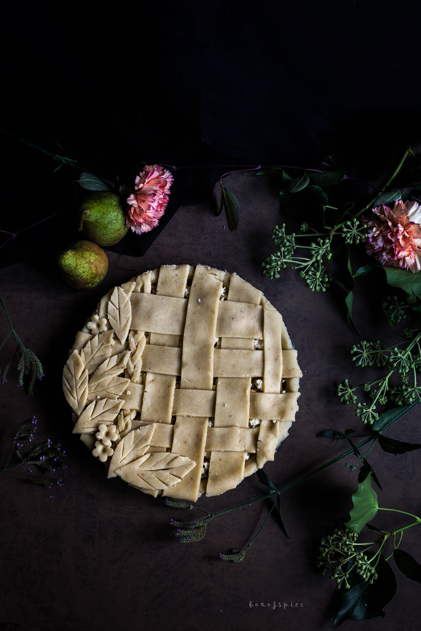 Pear Paneer Pie And A Ginger Crust I Boxofspice