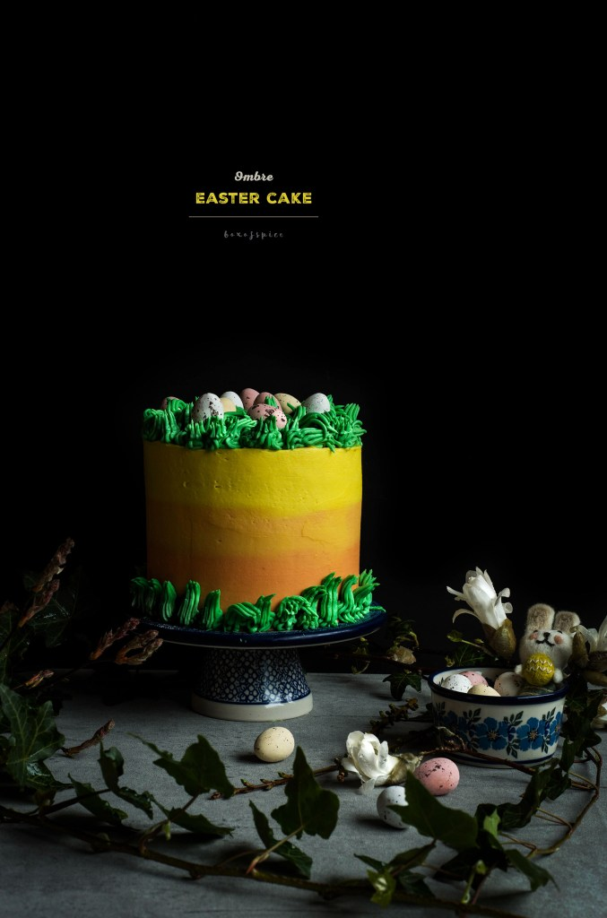 Ombre Easter Cake