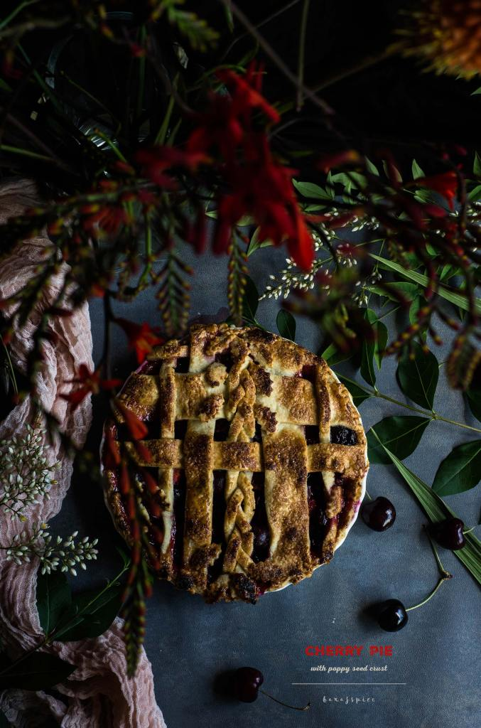 Cherry Pie with Poppy Seed Crust