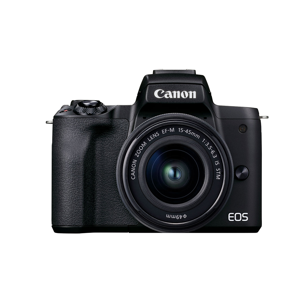 CanonEOS M50 Mark II Black with EF-M 15-45mm f/3.5-6.3 IS STM Lens Graphite