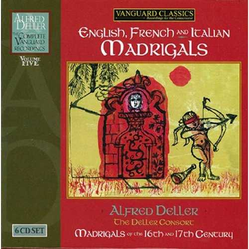 Alfred Deller: English, French and Italian Madrigals. Vol.5 (6 CD box set, FLAC)